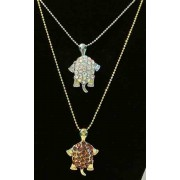 Turtle silver or gold-tone necklace