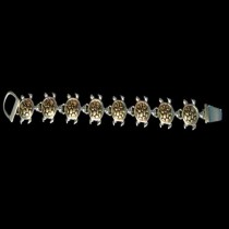 Gold Turtle Bracelet - B3g